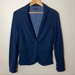 Rag & Bone cottony navy blazer sweater